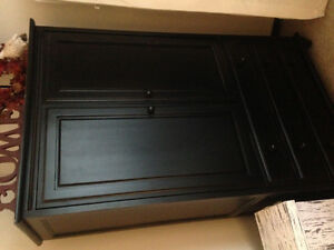 Solid wood black armoire