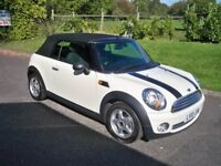 MINI Convertible 1.6I 16V ONE CONVERTIBLE FULL SERVICE HISTORY AIR CON PEPPER PACK (white) 2010