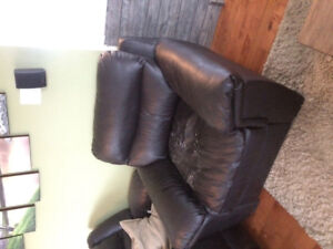 Dark brown foux leather chair - Want gone this weekend