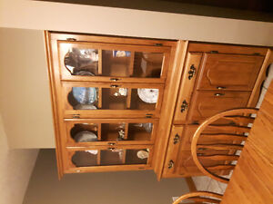 solid wood hutch  / china cabinet