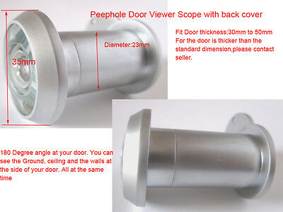 Solid brass Larger 180D Door Viewer with back cover