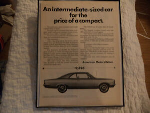 OLD AMC CLASSIC CAR FRAMED ADS Windsor Region Ontario image 5