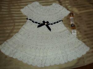 Baby Clothing - Crochet Baby Dress - Handmade