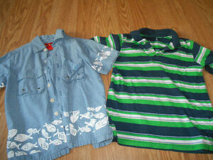 Two Boys shirts that are size 4 selling for $2.00 for the bundle
