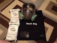 3M full face respirator mask,anhydrous ammonia/paint