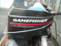 15 HP Gamefisher Outboard Motor