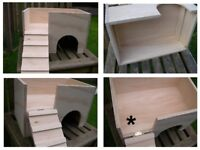 Bespoke Tort / Small Animal 2 Storey House / Hide / Shelter 15 x 10 x 10 inches