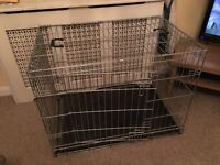 Large dog, puppy training crate, cage.