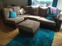 Corner sofa with arm chair