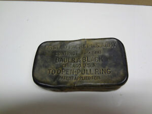 WW1 FIRST AID PACKET- U.S. ARMY TIN