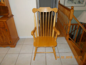 Rocking chair solid wood  $60.00