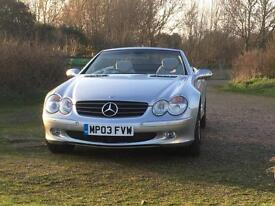 Mercedes-Benz SL 500 Automatic 2003 Silver 74000 miles FSH Pan Roof