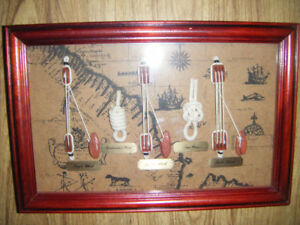 Shadow box with Knot Board for sale