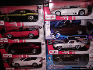 1/18 diecast cars in box