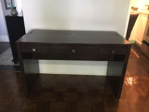 Beautiful Dark Wood Parsons Style Desk for Sale