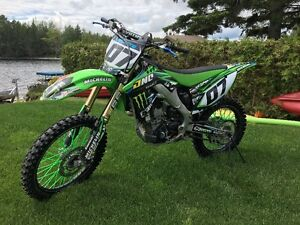 KAWASAKI motocross 250cc, full INJECTION, 4 temps, 2012.