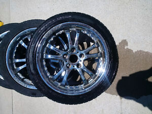"17"" Falken Chrome Rims with tires"