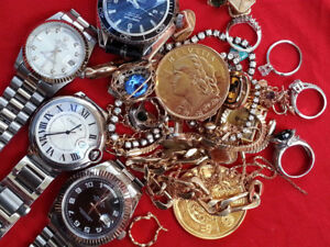 ACHETONS BIJOUX, OR, MONTRES CASH $$___WE BUY WATCHES AND JEWELS