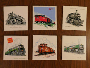 Collectible Vintage Train Tiles from Headford Ceramics,Toronto