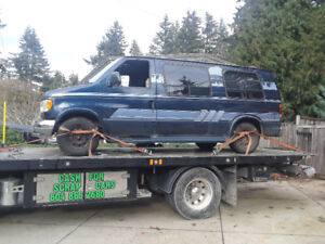 Scrap car removal , cash paid $100 and up to $200