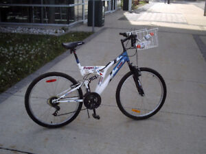 ADULT FULL SUSPENSION UNISEX ROAD AND TRAIL BIKE/GROCERY GETTER