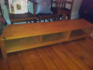Pine bench with storage