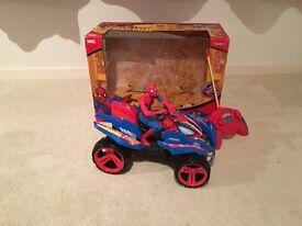 Spiderman remote control quad car