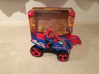 Spiderman remote control quad car