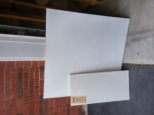 "Blank Painting Canvases, 15"" x 30"" and 40"" x 40"""