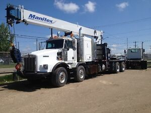 2007 kenworth t800, 30 TON MANITEX PICKER 3071C