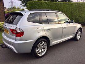 BMW X3 3.0D M SPORT AUTOMATIC BLACK LEATHER. (X5 jeep q7)