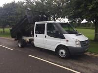 Ford Transit 2.2 TDCI 350 L HD 1 WAY DOUBLE CAB TIPPER NO VAT