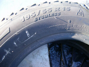 4 MICHELIN  X ICE WINTER TIRES LIKE NEW P 195/65/R 15