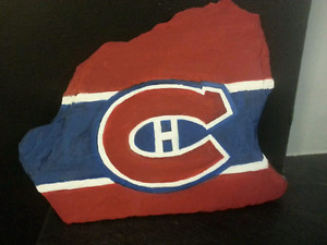Rock painting - Montreal Canadians