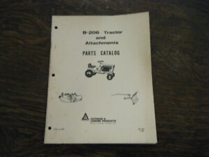 Allis Chalmers B-206 Tractor and Attachments  Parts Catalog