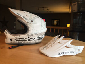 BMX Racing helmet and pads