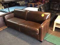 John Lewis brown leather