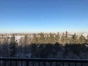 Top Floor Sherwood Park 2BD + Den with Park View