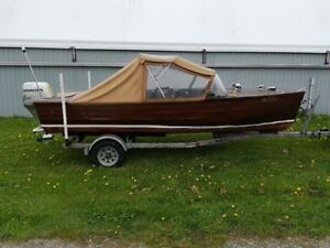 vintage wooden boat project