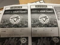 2 jays tickets for September 5th