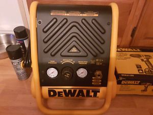 Brand new dewelt compressor and nail gun