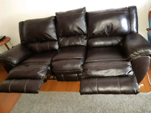 Leather Dark Brown couch like New