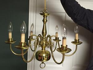 classic 6 light chandelier