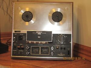 SONY tc 377 reel to reel recorder/player with dust cover