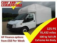 2012 12 FORD TRANSIT LUTON 350 LWB EF 125PS [DRW] TAIL LIFT 2.2 DIESEL