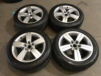 "17"" alloy wheels alloys rims seat skoda audi Vw Volkswagen 5x112 2255017 tyres"