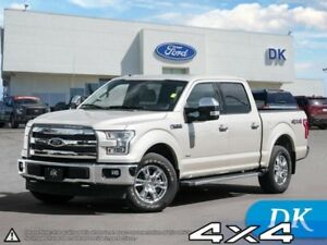2017 Ford F-150 Lariat 502A w/Leather, Moonroof, Nav, and More!