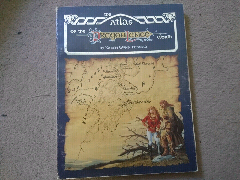 Dungeons and dragons 80s Dragonlance atlas maps | in Norwich