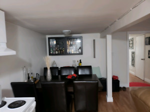 One bed room basement apartment
