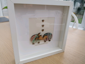 Lovely box framed sheep picture